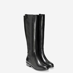 Cole Haan Katrina Riding Boots - Black Size 8.5 B
